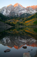 maroon bells sunrise money shot