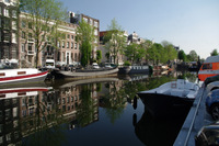 amsterdam canal reflections