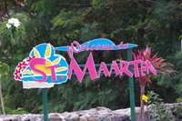 Welcome to St. Martin sign